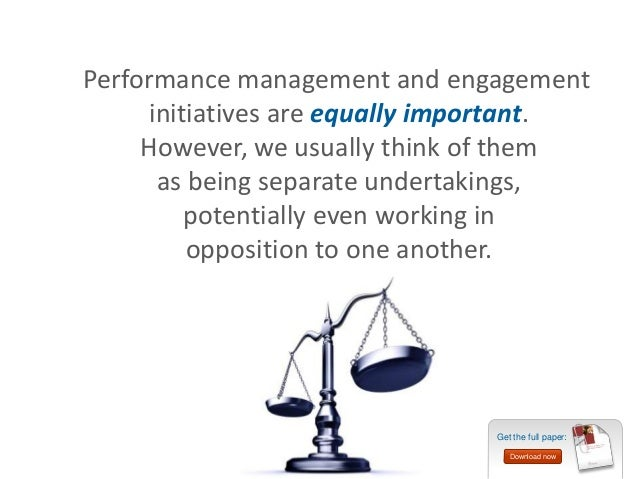 performance management and employee engagement pdf