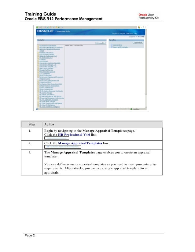 Training Guide Oracle EBS R12 Performance Management