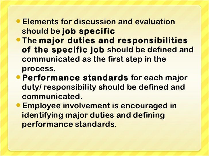 the criteria for each element that should be present in an appraisal system We would welcome feedback on the ideas presented here the guidance on   strategy and the requirements of the turnbull report3 on corporate governance  provide a  cover each element of the health and safety management system  policy  gathering may form part of a performance appraisal system, which  holds.