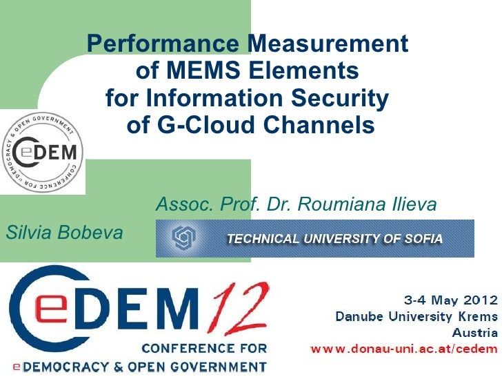 Performance Measurement            of MEMS Elements         for Information Security           of G-Cloud Channels        ...