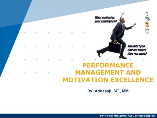 motivation performance management