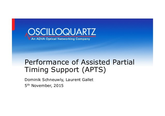 performance of assisted partial timing support apts
