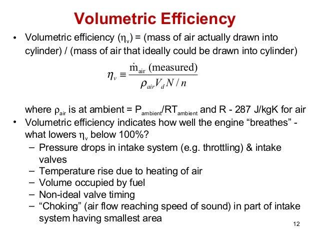 torque , power, volumetric efficiency and their dependence