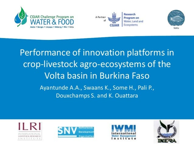 A Partner of Performance of innovation platforms in crop-livestock agro-ecosystems of the Volta basin in Burkina Faso Ayan...