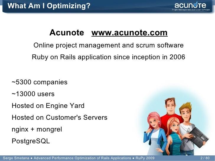 Performance Optimization of Rails Applications Slide 2