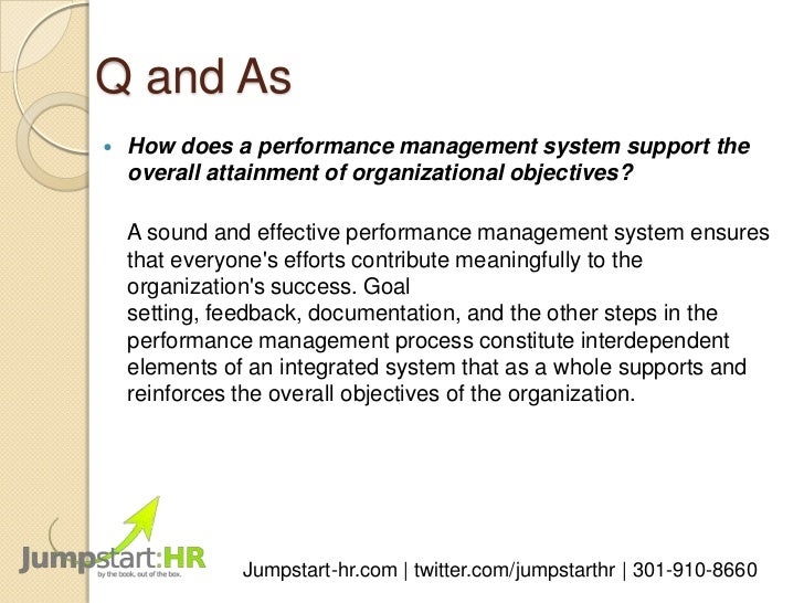 Performance management system in v a museum