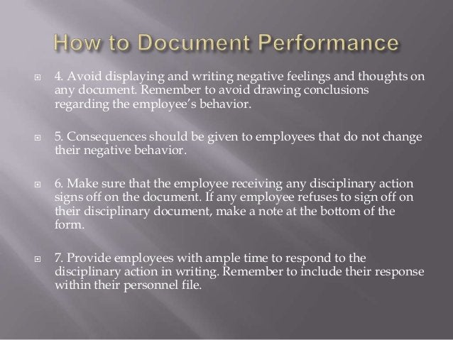  4. Avoid displaying and writing negative feelings and thoughts on any document. Remember to avoid drawing conclusions re...