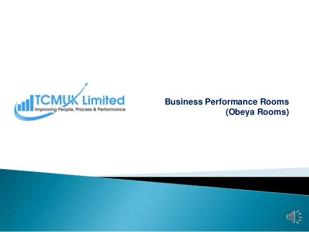Business Performance Rooms (Obeya Rooms)