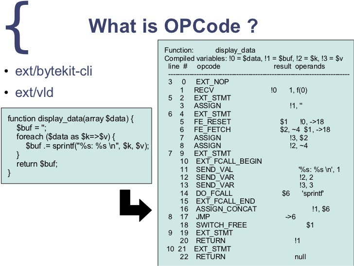 php opcode