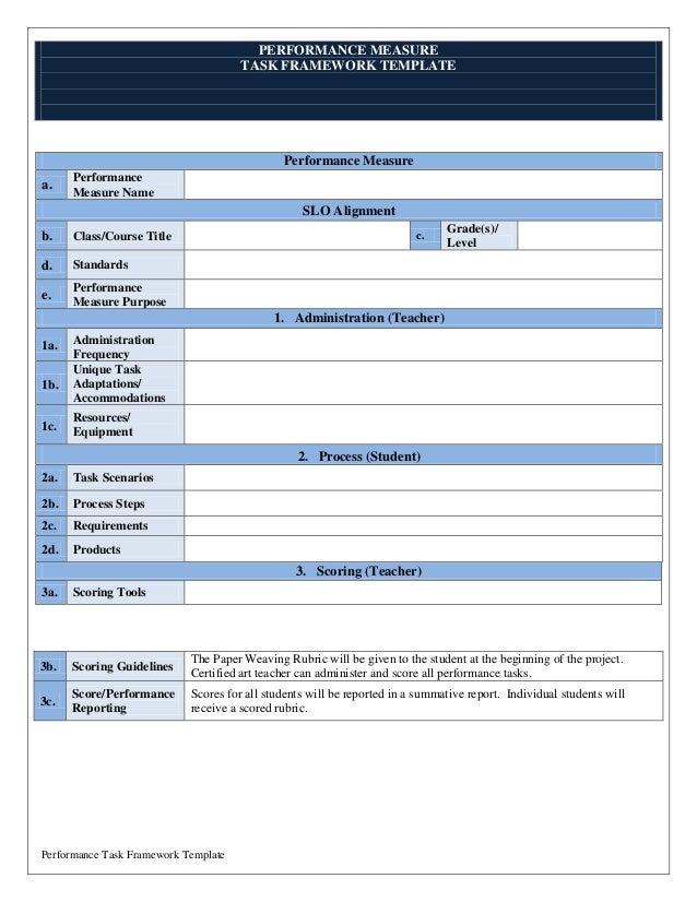 Performance Task Framework-22JAN14