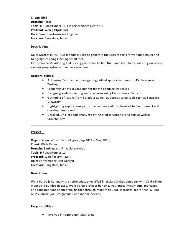 performance tester resume fast lunchrock co