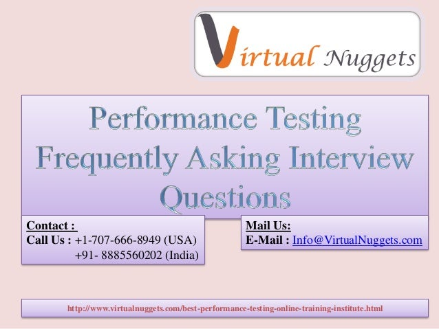 http://www.virtualnuggets.com/best-performance-testing-online-training-institute.html Contact : Call Us : +1-707-666-8949 ...