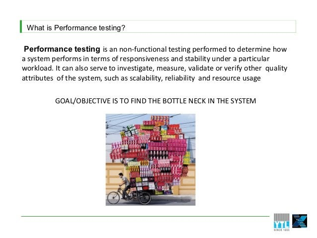 What is Performance testing? Performance testing is an non-functional testing performed to determine howa system performs ...