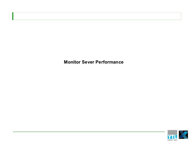 Monitor Sever Performance