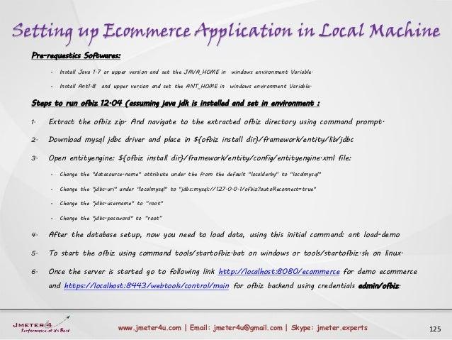 Setting up Ecommerce Application in Local Machine 125www.jmeter4u.com | Email: jmeter4u@gmail.com | Skype: jmeter.experts ...