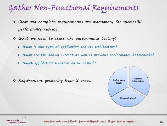 Gather Non-Functional Requirements 16www.jmeter4u.com | Email: jmeter4u@gmail.com | Skype: jmeter.experts  Clear and comp...