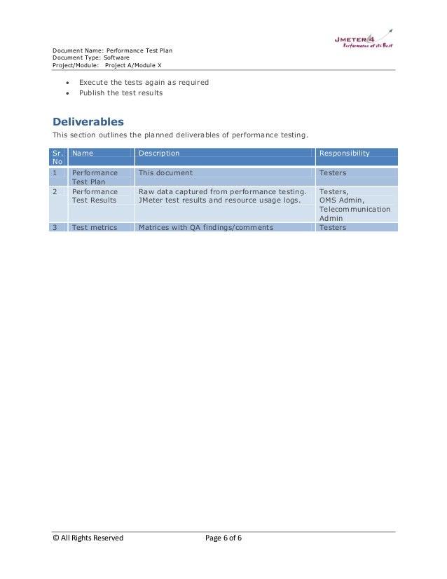 Performance test plan sample 2 6 document name performance test plan document pronofoot35fo Image collections