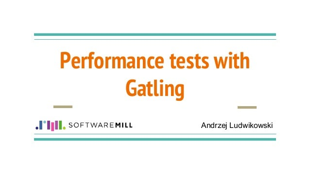 Performance tests with gatling