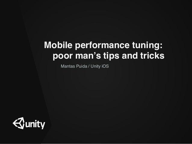 Mobile performance tuning: 