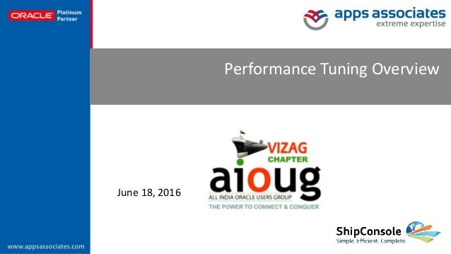 © Copyright 2015. Apps Associates LLC. 1 Performance Tuning Overview June 18, 2016