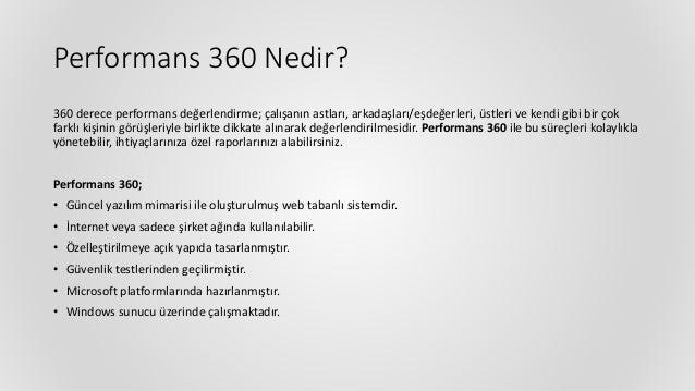 Performans Yönetimi | Performans 360 Değerlendirme Sistemi Yazılımı Slide 2