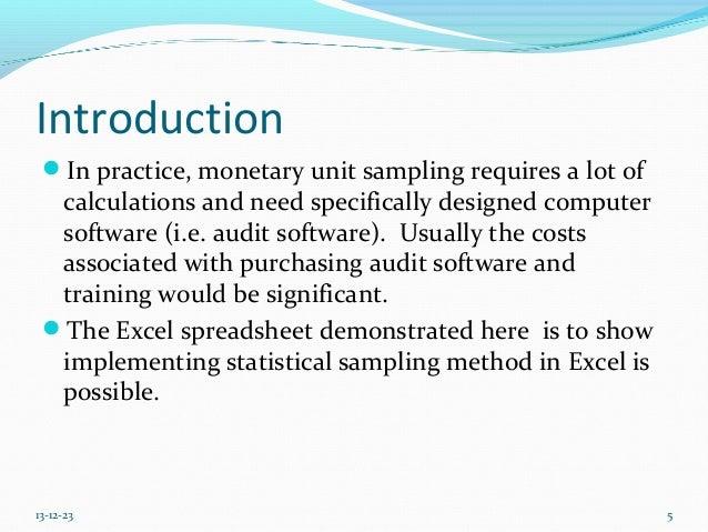 importance of audit sampling