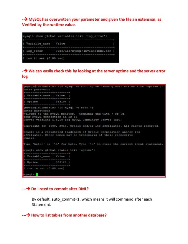 - MySQL has overwritten your parameter and given the file an extension, asVerified by the runtime value.- We can easily ...