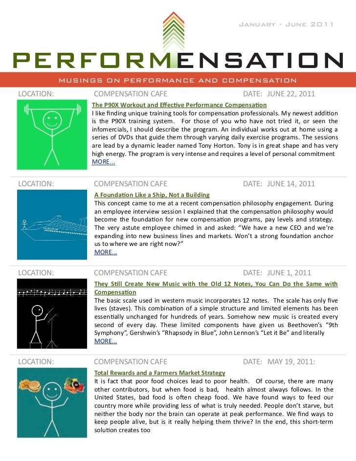 January - June 2011            MUSINGS ON PERFORMANCE AND COMPENSATIONLOCATION:         COMPENSATION	  CAFE               ...