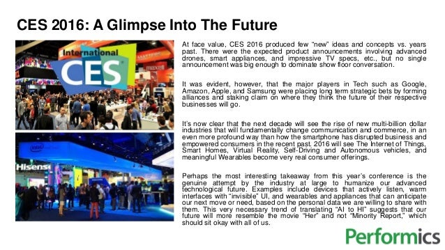 """CES 2016: A Glimpse Into The Future At face value, CES 2016 produced few """"new"""" ideas and concepts vs. years past. There we..."""