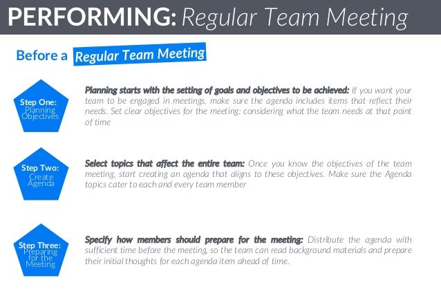 agenda for team meeting