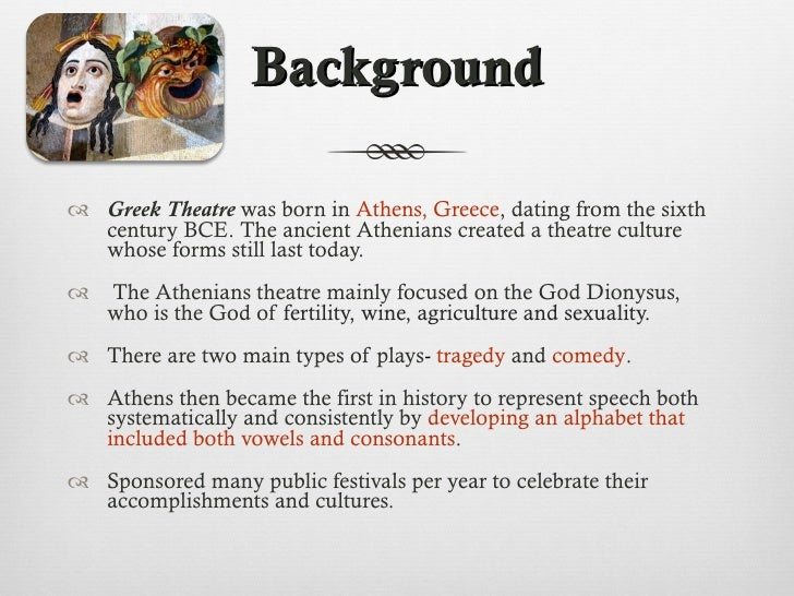 The history of greek theaters and performing arts