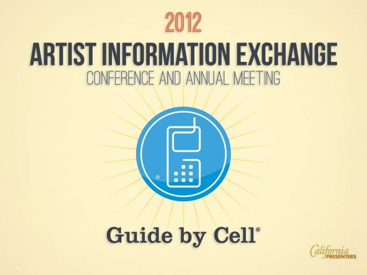 Guide by Cell Performing arts presentation