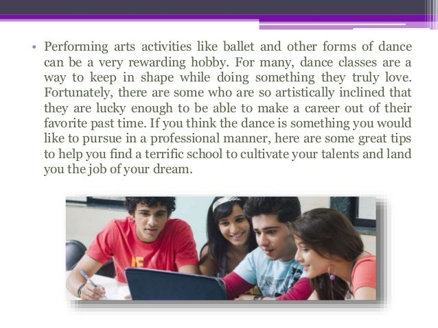 Performing Arts Professional - How to Find the Best Education Slide 2