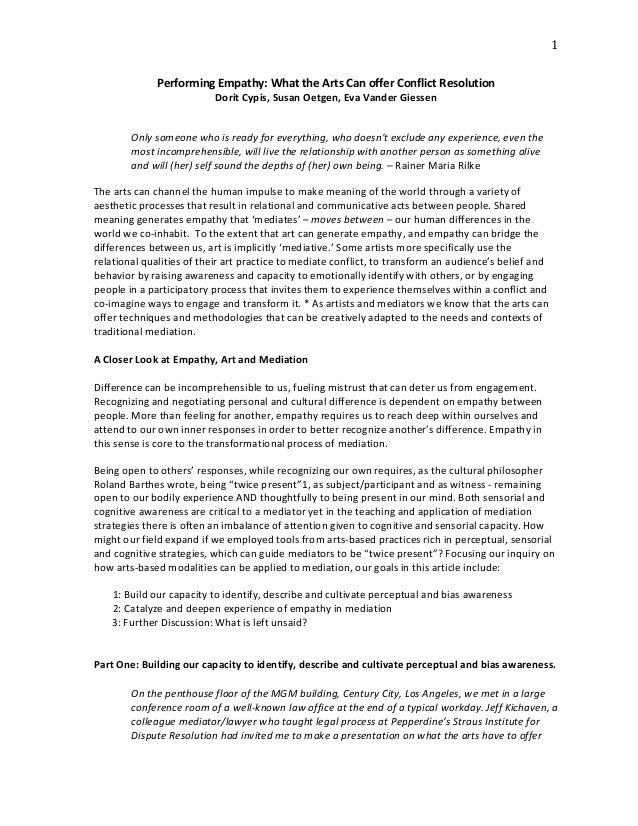 essays on empathy fingerspit