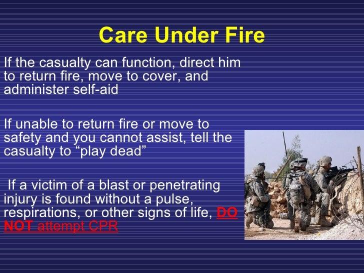 Move Under Direct Fire : Perform tactical combat