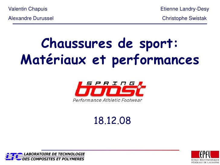 Valentin Chapuis                Etienne Landry-Desy Alexandre Durussel              Christophe Swistak           Chaussure...
