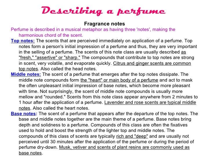 description of a perfume