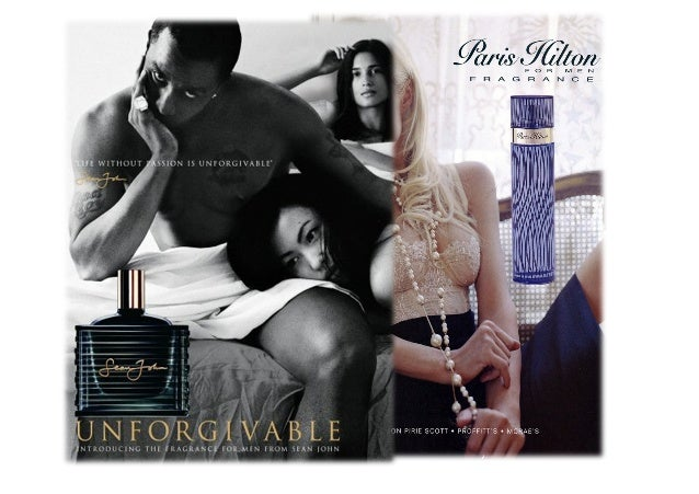 Sean Jean Paris HiltonA description of the advertisement This advert is showing p diddy lying in bedwith two woman.Who cre...