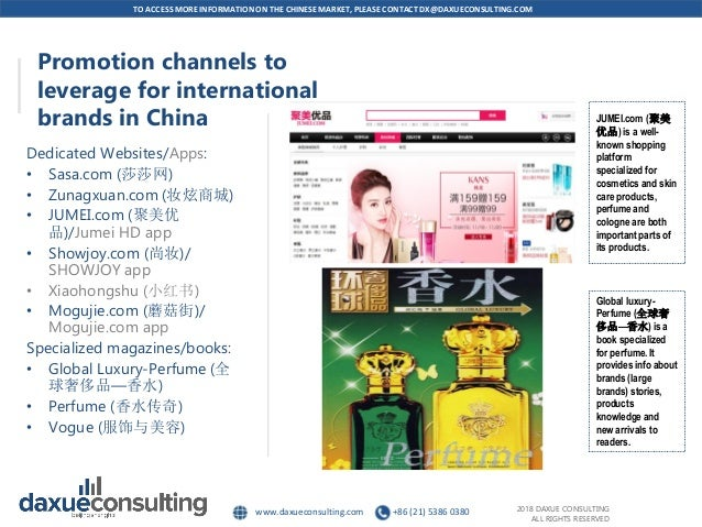 The perfume market in China by Daxue consulting