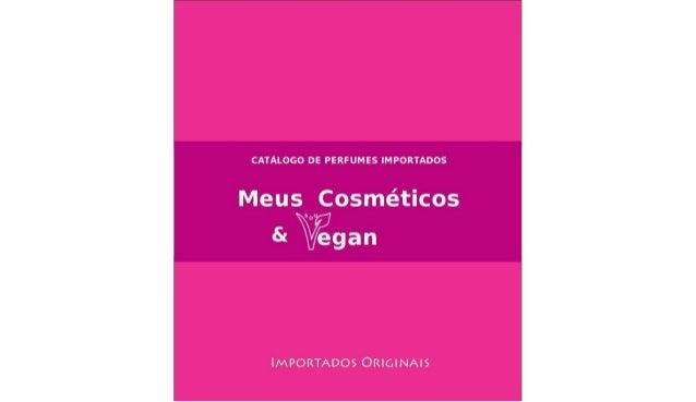 Catálogo Perfumes Importados -  julho 2013