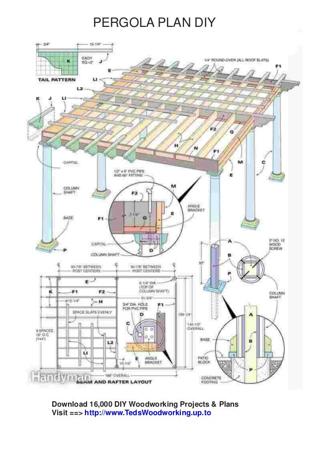 Free pergola plans pdf download for Building planning and drawing free pdf download