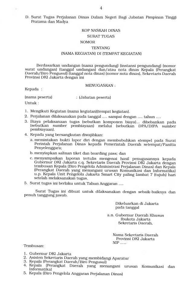 Kop Surat Gubernur Dki Jakarta - Contoh Kop Surat