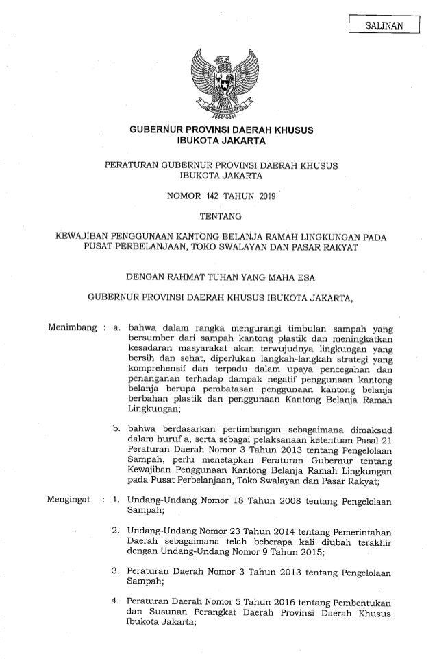 Pergub DKI 142/2019