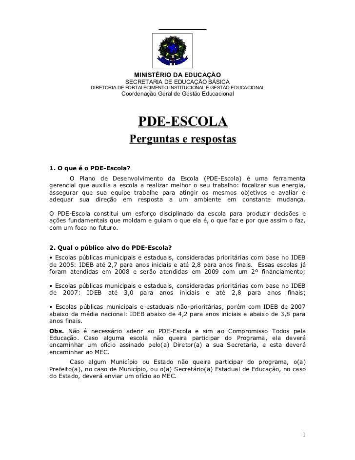 MINISTÉRIO DA EDUCAÇÃO                           SECRETARIA DE EDUCAÇÃO BÁSICA               DIRETORIA DE FORTALECIMENTO I...