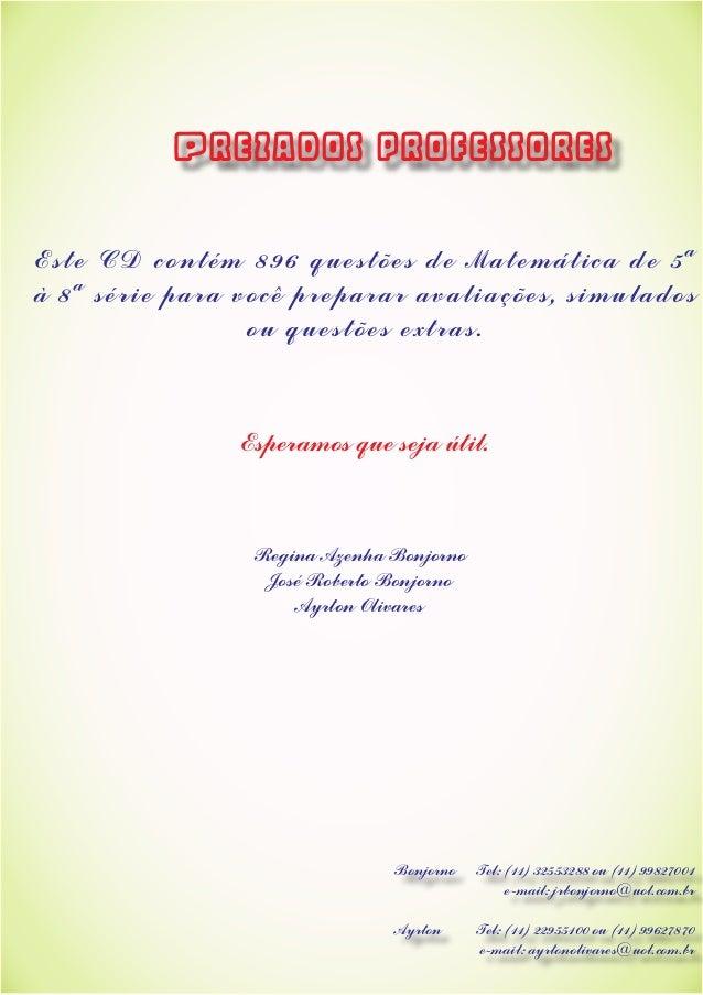4aa7526812f Es t e CD c ont ém 896 que s t õ e s de Mat emát i ca ...