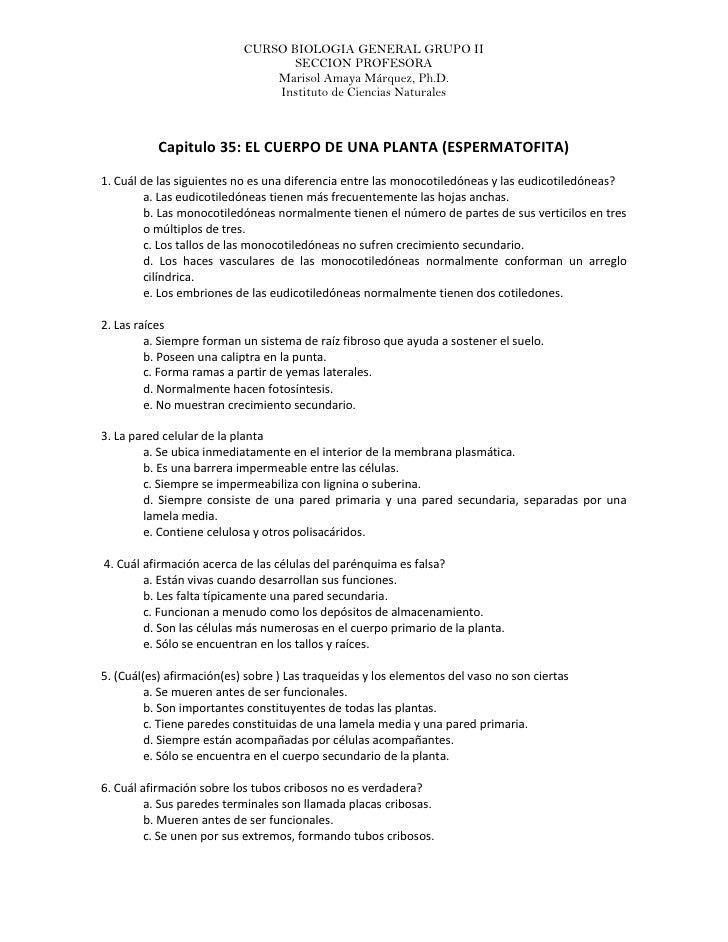 CURSO BIOLOGIA GENERAL GRUPO II                                   SECCION PROFESORA                                Marisol...