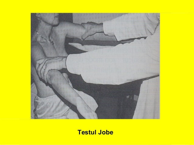 Testul Jobe  20