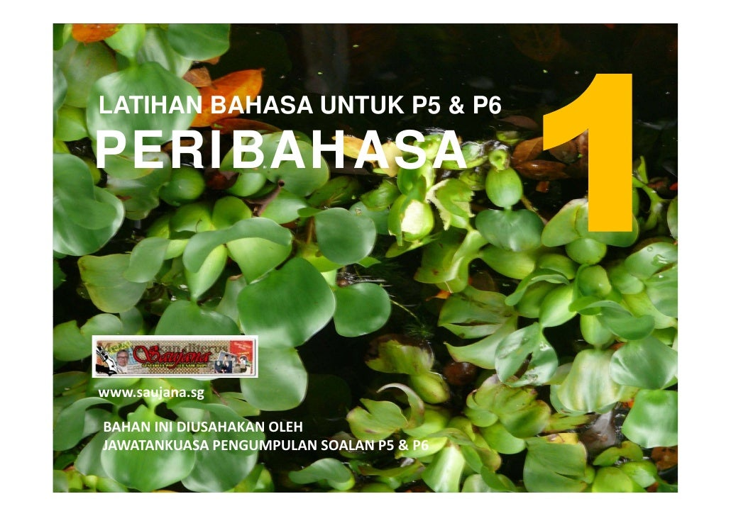 LATIHAN BAHASA UNTUK P5 & P6  PERIBAHASA    www.saujana.sg  BAHANINIDIUSAHAKANOLEH JAWATANKUASAPENGUMPULANSOALANP5&...