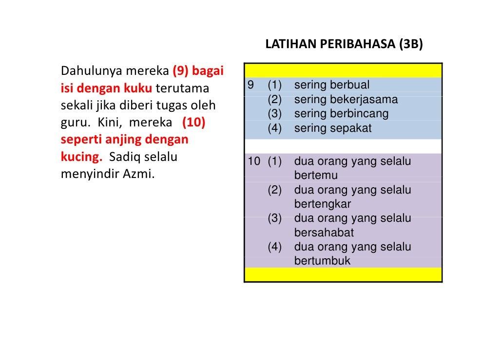 Latihan Bahasa Melayu PSLE - Peribahasa 03 Slide 3