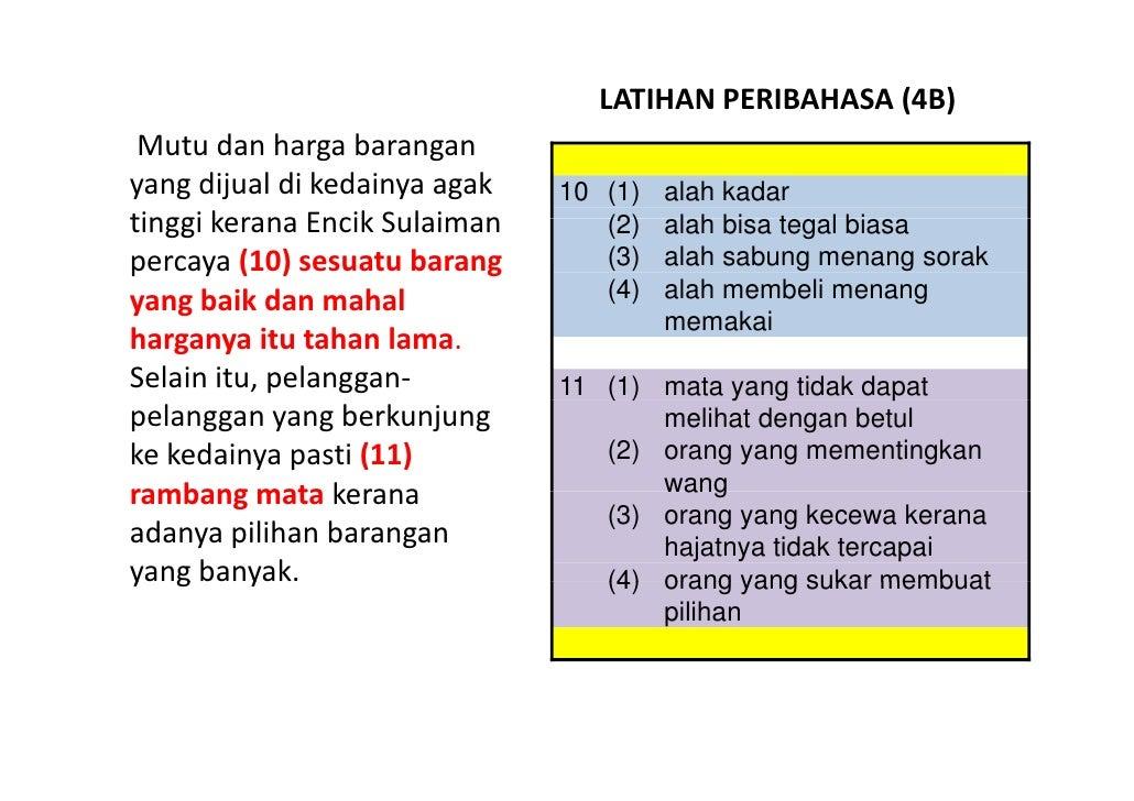 Latihan Bahasa Melayu PSLE - Peribahasa 04 Slide 3